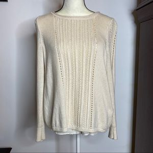 Lucky Brand Sweater with Open Back & Underlay